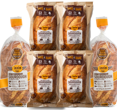 SOURDOUGH COMBO: 2 Packs of Izzio 24oz (2 x SOURDOUGH) + 4 Packs of Izzio Take & Bake (4 x SOURDOUGH) (Free Shipping!)