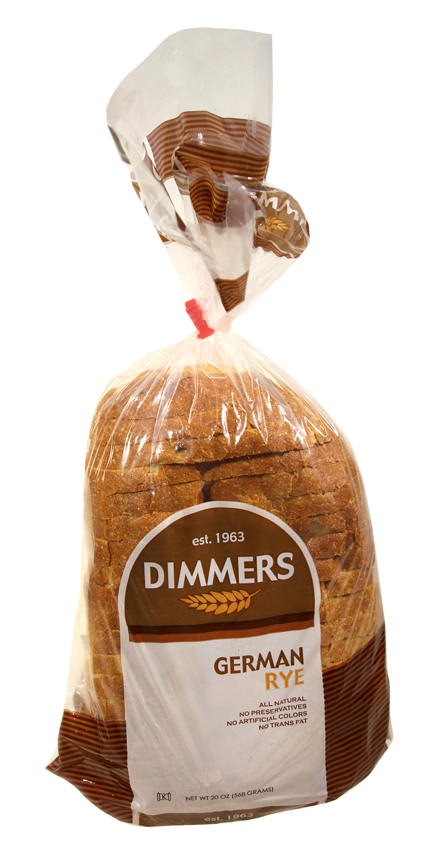 2 Packs of Dimmers GERMAN RYE Sliced Bread - 20oz (2Day FedEx Express FREE Shipping!)