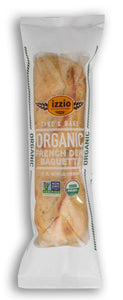 NEW!! 6 Packs of Izzio ORGANIC DEMI FRENCH BAGUETTE Take & Bake (2Day FedEx Express FREE Shipping!)