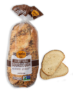 2 Packs of Izzio 24oz Sliced Sourdough: EVERYTHING SOURDOUGH (2Day FedEx Express FREE Shipping!)