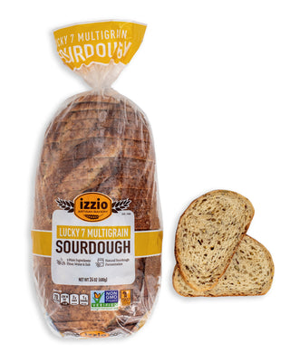2 Packs of Izzio 24oz Sliced Sourdough: LUCKY 7 MULTIGRAIN (2Day FedEx Express FREE Shipping!)