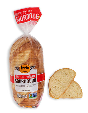 2 Packs of Izzio 24oz Sliced Sourdough: RUSTIC POTATO SOURDOUGH (2Day FedEx Express FREE Shipping!)