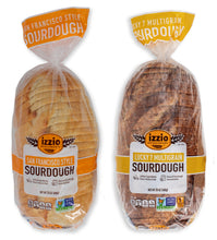 2 Packs of Izzio 24oz Sliced Sourdough - CLASSIC Variety: 1 x SAN FRANCISCO STYLE SOURDOUGH + 1 x LUCY 7 MULTIGRAIN (2Day FedEx Express FREE Shipping!)