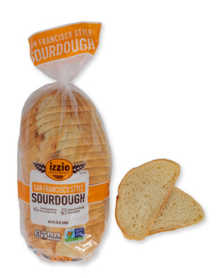 2 Packs of Izzio 24oz Sliced Sourdough: SAN FRANCISCO STYLE SOURDOUGH (2Day FedEx Express FREE Shipping!)