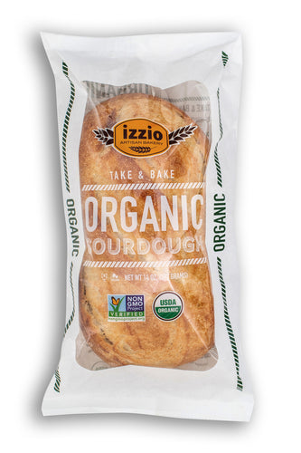 NEW!! 3 Packs of Izzio ORGANIC SOURDOUGH Take & Bake (2Day FedEx Express FREE Shipping!)