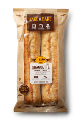 3 Packs of Izzio Take & Bake DEMI BAGUETTE 2 PACK (2Day FedEx Express FREE Shipping!)