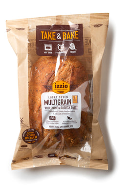 3 Packs of Izzio Take & Bake: LUCKY SEVEN MULTIGRAIN (2Day FedEx Express FREE Shipping!)