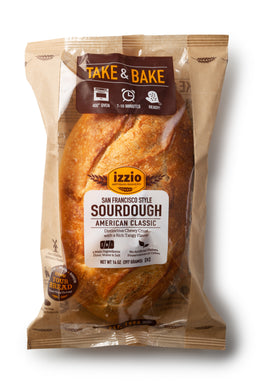 3 Packs of Izzio Take & Bake: SAN FRANCISCO STYLE SOURDOUGH (2Day FedEx Express FREE Shipping!)