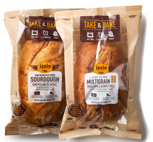 3 Packs of Izzio Take & Bake CLASSIC Variety: 2 x SAN FRANCISCO STYLE SOURDOUGH + 1 x LUCKY 7 MULTIGRAIN (Free Shipping!)