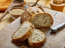 One Pack of Izzio Half Boule 26oz Sliced: PANE AL LINO - The Flax Seeds Bread (2Day FedEx Express FREE Shipping!)