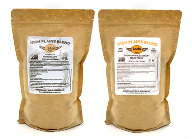4 Packs of Izzio Premium Bread Flour 2LB: 2 X Plain Flour + 2 X Whole Wheat Flour (Free Shipping!)