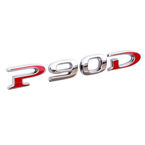 P90D Rear Badge