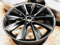 "Tesla 21"" Black Onyx Staggered Wheel Set"