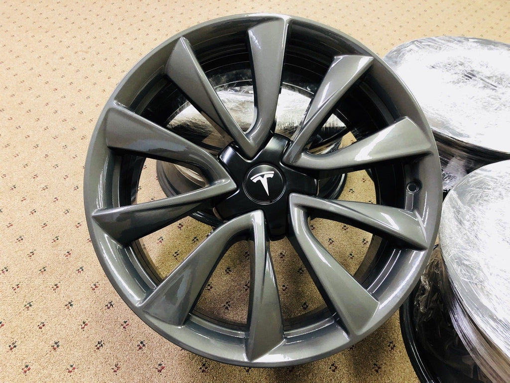 "Tesla Model 3 Sonic Carbon 19"" Sport Wheel Set"