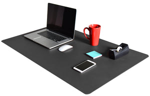 Black Linoleum Desk Pad