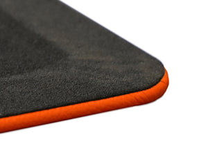 Carrot Orange Leather Desk Pad