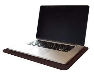 Espresso Brown Leather Desk Pad
