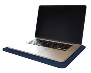 Midnight Blue Leather Desk Pad