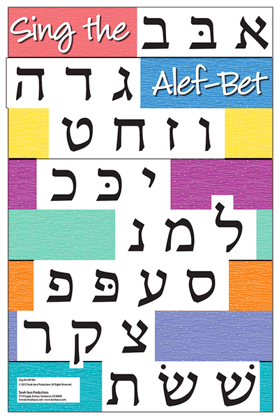 Sing the Alef-Bet Wall Poster
