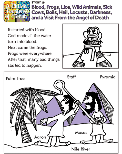 Child's Garden of Torah: Blood, Frogs, Lice...The Plagues  (19)