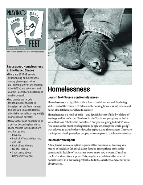 Praying With Our Feet: Ending Homelessness
