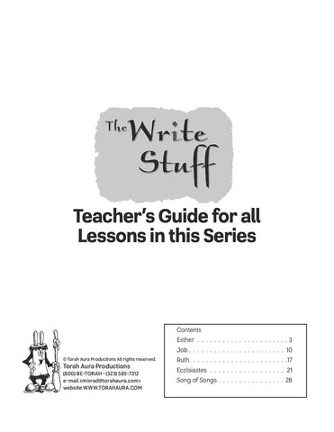 Write Stuff: Teacher Guide