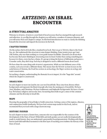 Artzeinu: An Israel Encounter Teacher Guide