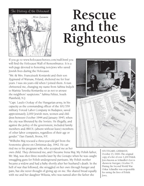 History of the Holocaust: Rescue and the Righteous