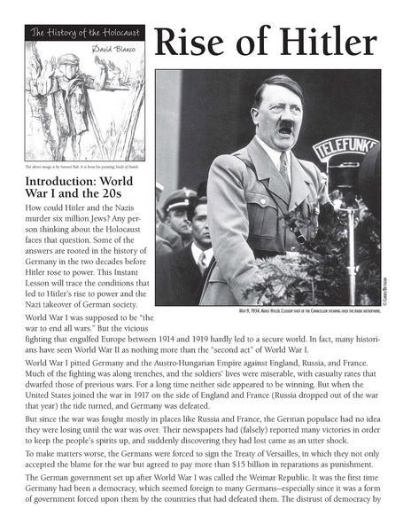 History of the Holocaust: Rise of Hitler