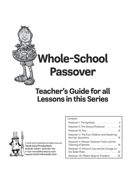 Whole School Passover Teacher Guide