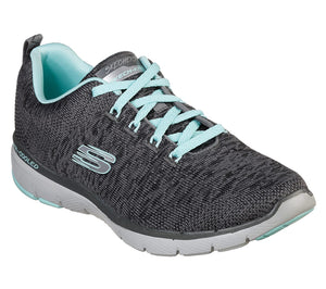 Skechers Flex Appeal 3.0 Charcoal and Blue