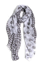 Spot Stripe Scarf In Carbone