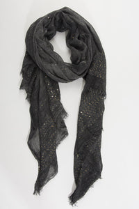 Nero and Gold Sequin Scarf