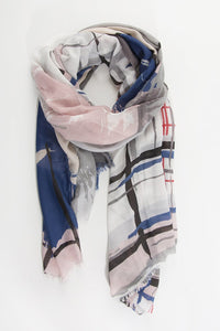 Skye and Rosa Cross Hatch Print Scarf