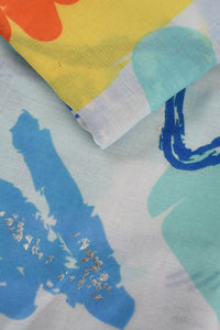 Tropical Abstract Paint Stroke Print Scarf