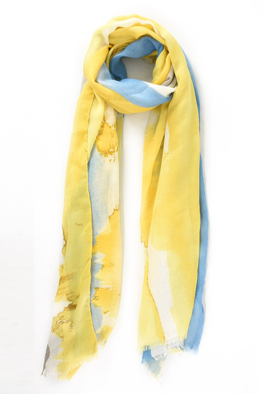 Limoncello and Skye Watercolour Scarf