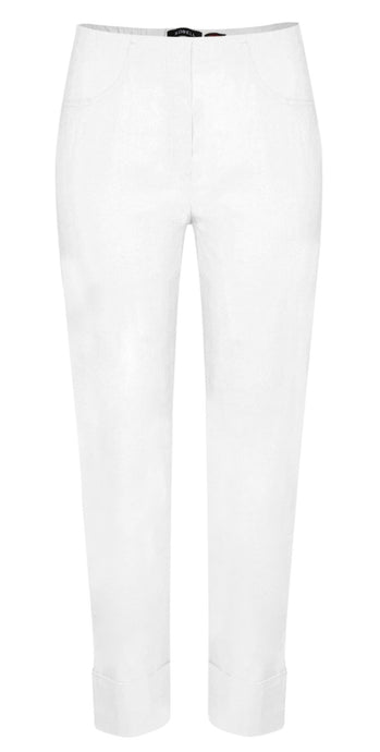 Robell Bella 09 Slim Fit Trousers Bianco
