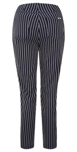 Robell Bella 09 Slim Fit Navy Pinstriped Trousers