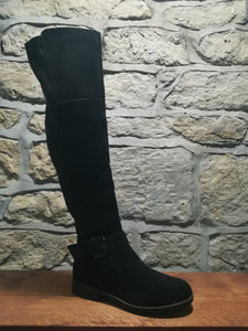 Louise Knee High Suede Rider Boot