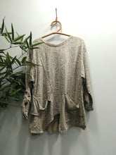 Hettie Snake Print Button Pocket Sweater