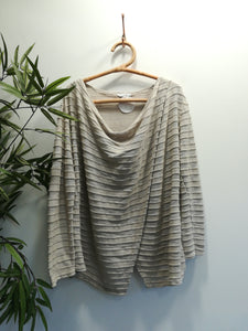 Suzie Crossover Ribbed Knit Top
