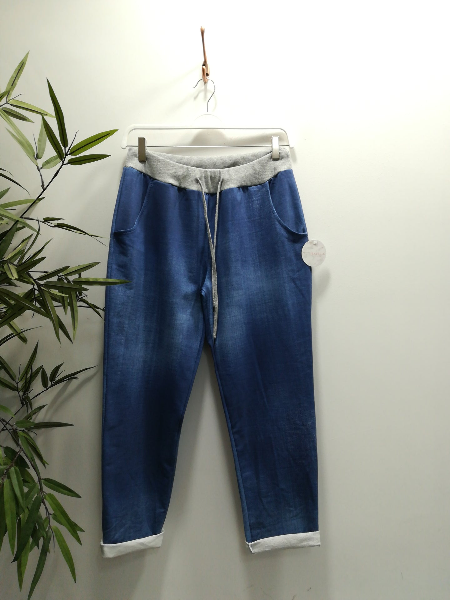 Jolene Plain Washed Denim Joggers