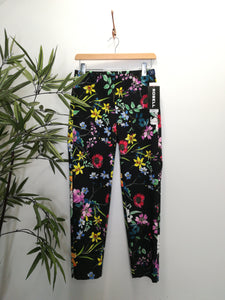 Robell Rose 09 Super Slim Fit Floral Trousers