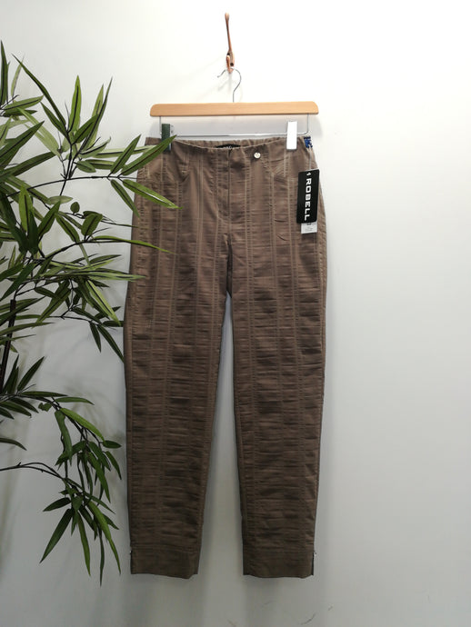 Robell Bella 09 Cotton Linen Mix Trousers Taupe