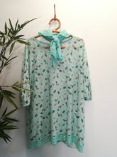 Lucy Leaf Print Scarf Top