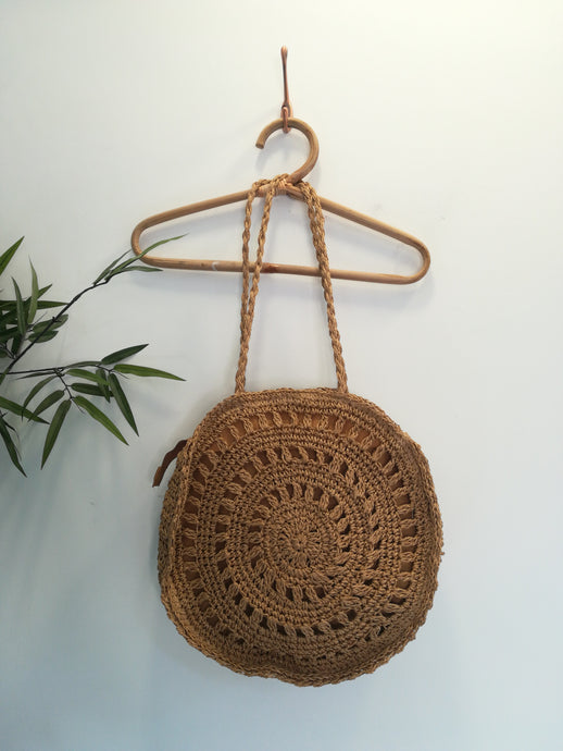 Circle Straw Laced Bag
