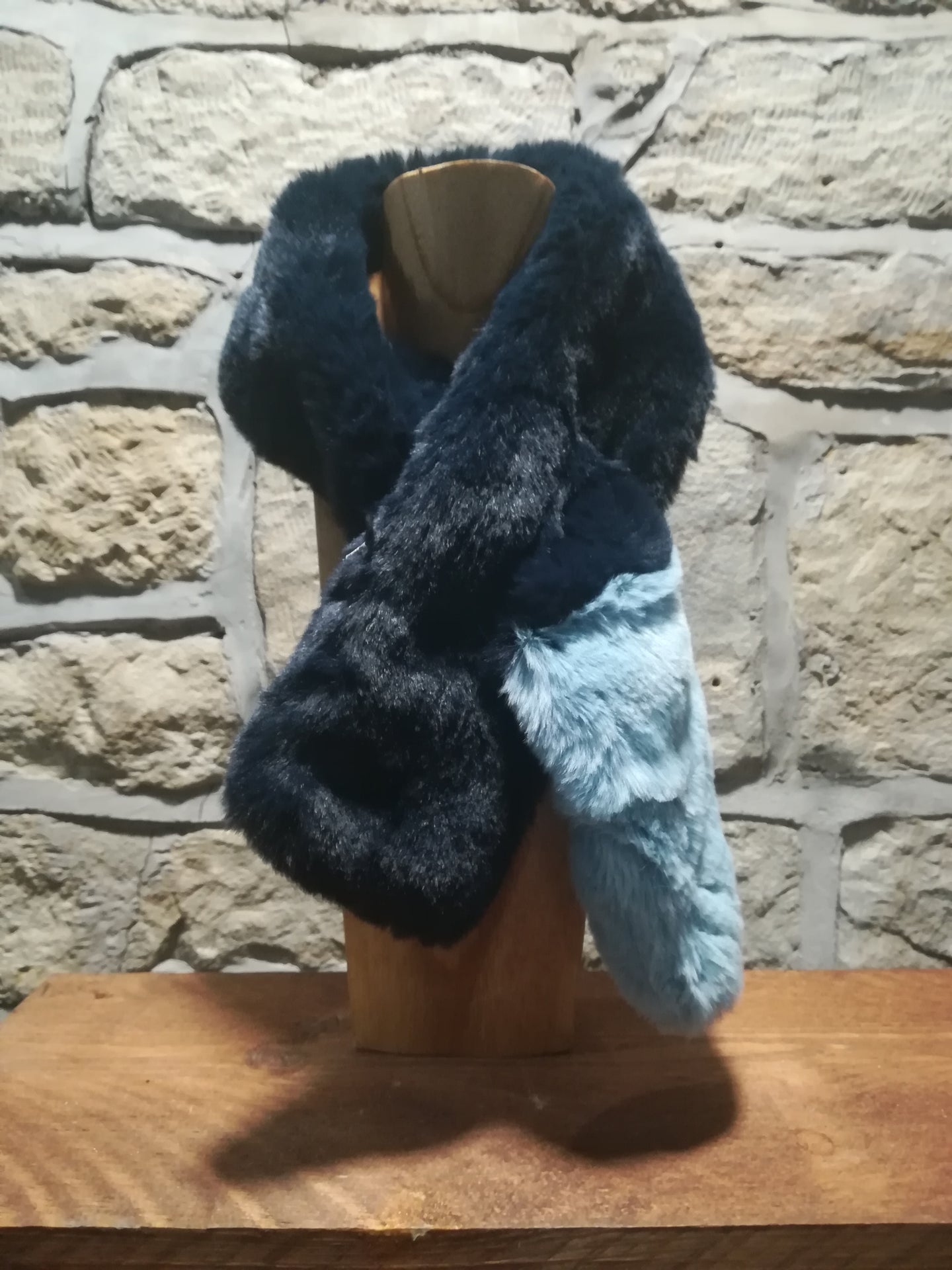Indigo and Azzuro Short Tuck Through Scarf