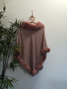 Katie-Lou Faux Fur Colour Ponchos