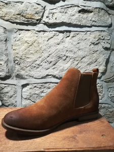 Laura Brown Suede Chelsea Boot