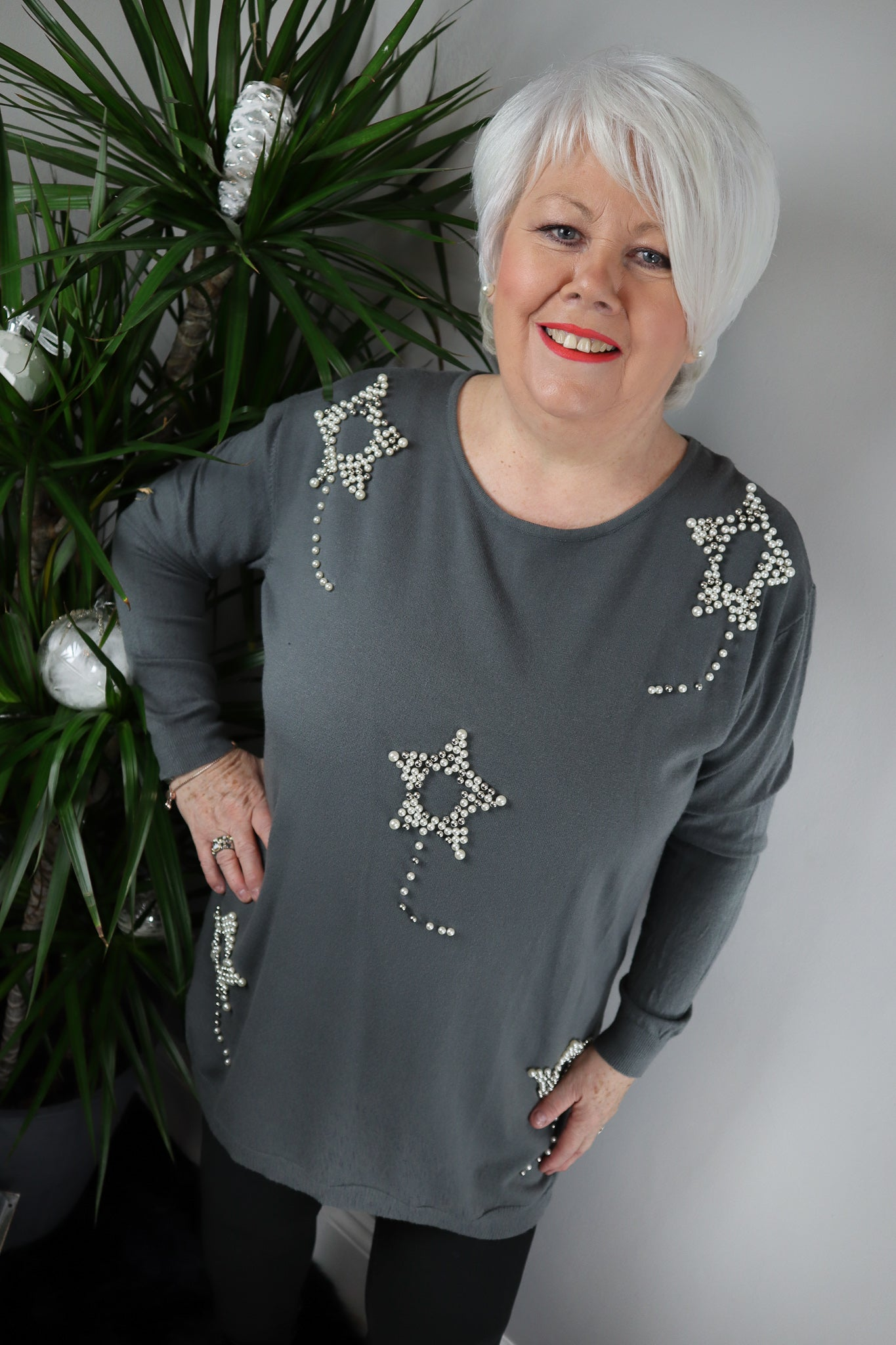 Charlene Beaded Star Jumper